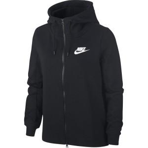 בגדי חורף נייק לנשים Nike Sportswear AV15 Full Zip Hoody - שחור
