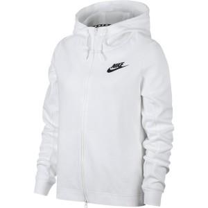 בגדי חורף נייק לנשים Nike Sportswear Optic Full Zip Hooded - לבן