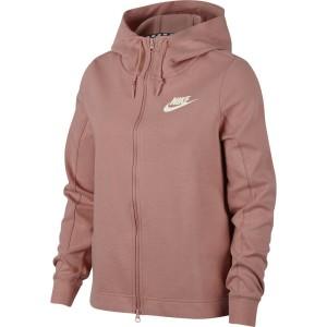 בגדי חורף נייק לנשים Nike Sportswear Optic Full Zip Hooded - ורוד