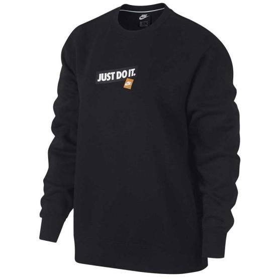 ביגוד נייק לנשים Nike Sportswear Crew Just Do It - שחור