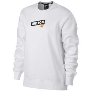 ביגוד נייק לנשים Nike Sportswear Crew Just Do It - לבן