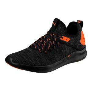 נעלי אימון פומה לגברים PUMA Ignite Flash evoKNIT Unrest - שחור/כתום