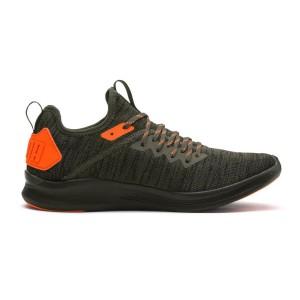 נעלי אימון פומה לגברים PUMA Ignite Flash evoKNIT Unrest - אפור/כתום