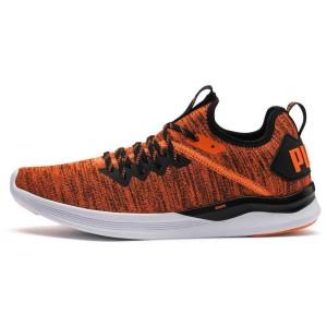 נעלי אימון פומה לגברים PUMA Ignite Flash evoKNIT Unrest - כתום/שחור