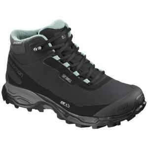 נעלי טיולים סלומון לגברים Salomon Shelter Spikes CS WP - שחור/תכלת