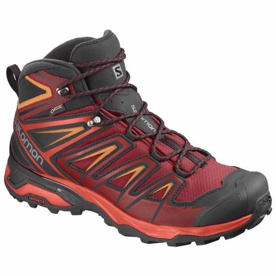 נעלי טיולים סלומון לגברים Salomon X Ultra 3 Mid Goretex - אדום