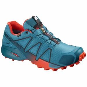 נעליים סלומון לגברים Salomon Speedcross 4 Goretex - כחול/כתום