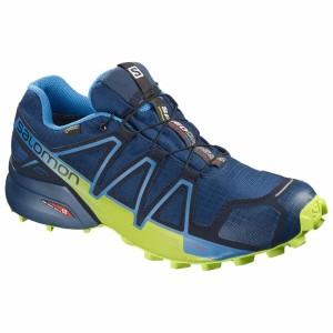נעליים סלומון לגברים Salomon Speedcross 4 Goretex - כחול/צהוב