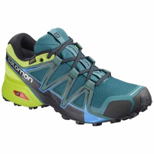נעלי טיולים סלומון לגברים Salomon Speedcross Vario 2 Goretex - כחול/צהוב