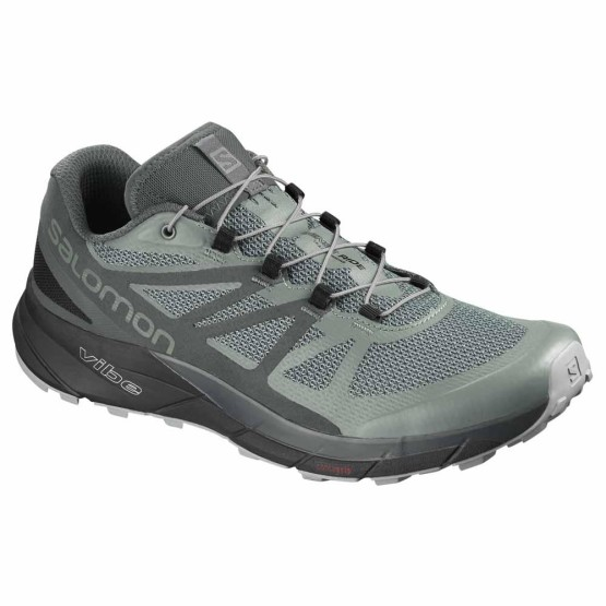 נעליים סלומון לגברים Salomon Sense Ride Goretex Invisible Fit - אפור/ירוק