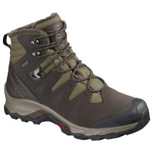 נעלי טיולים סלומון לגברים Salomon Quest Winter Goretex - חום