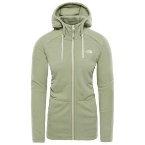 בגדי חורף דה נורת פיס לנשים The North Face Mezzaluna Full Zip Hoodie - ירוק