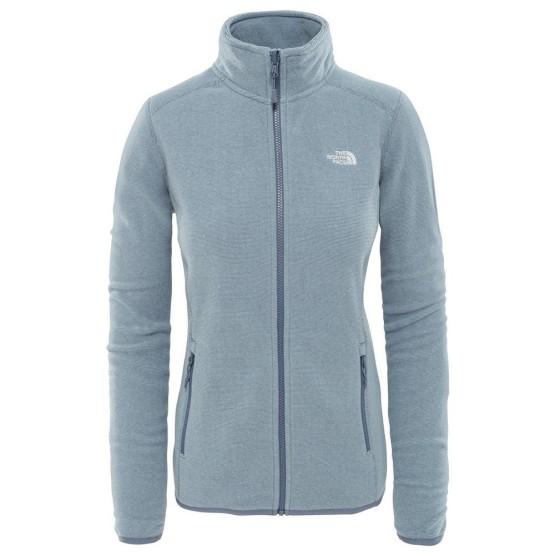 בגדי חורף דה נורת פיס לנשים The North Face 100 Glacier Full Zip - אפור/כחול
