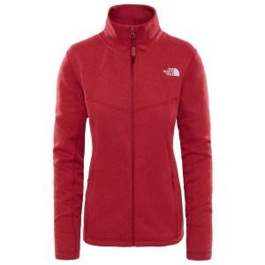 בגדי חורף דה נורת פיס לנשים The North Face Inlux Wool FZ Jacket - בורדו/אדום