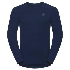 ביגוד אודלו לגברים Odlo Shirt L/S Crew Neck Warm - כחול