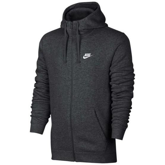 בגדי חורף נייק לגברים Nike Sportswear Club BB Full Zip Hoody - אפור כהה