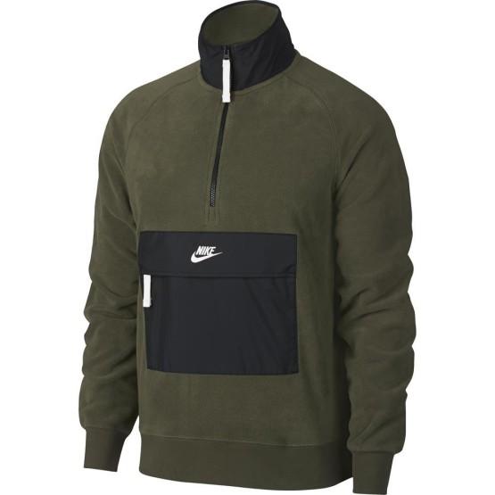 בגדי חורף נייק לגברים Nike Sportswear Core Winter SNL Half Zip - ירוק