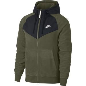 בגדי חורף נייק לגברים Nike Sportswear Core Winter SNL Full Zip Hoody - ירוק