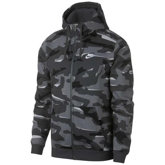 בגדי חורף נייק לגברים Nike Sportswear Club Camo - אפור