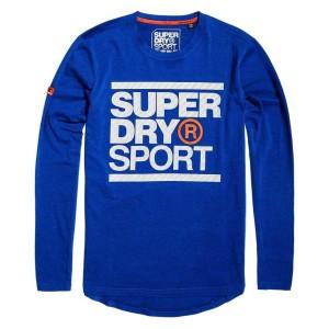 ביגוד סופרדרי לגברים Superdry Core Graphic - כחול