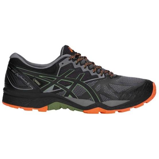 נעלי הליכה אסיקס לגברים Asics Gel FujiTrabuco 6 Goretex - אפור/כתום
