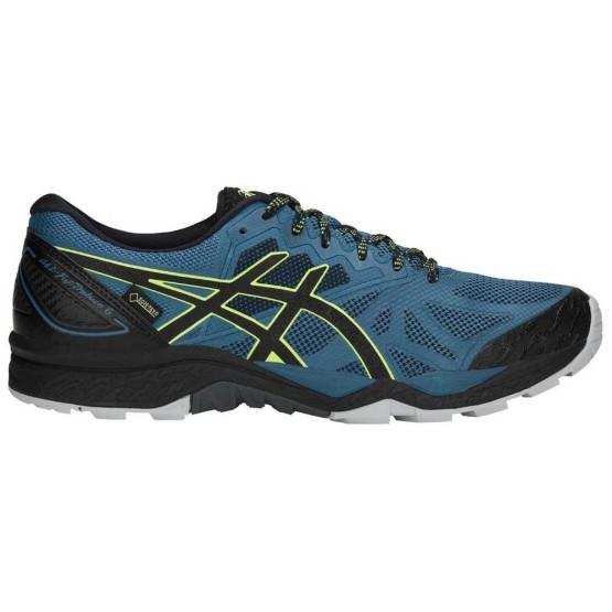 נעלי הליכה אסיקס לגברים Asics Gel FujiTrabuco 6 Goretex - כחול/שחור