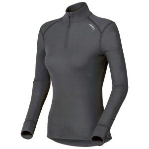 בגדי חורף אודלו לנשים Odlo Turtle Neck 1/2 Zip Warm - אפור כהה