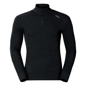 ביגוד אודלו לגברים Odlo Shirt L/S Turtle Neck 1/2 Zip Warm - שחור