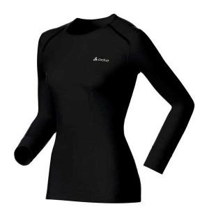 בגדי חורף אודלו לנשים Odlo Crew Neck Warm - שחור
