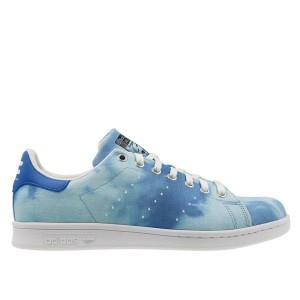 נעליים אדידס לגברים Adidas Pharrell Williams HU Holi Stan Smith - תכלת/כחול
