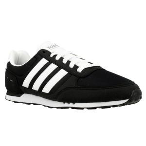 נעליים אדידס לגברים Adidas Neo City Racer - שחור/לבן