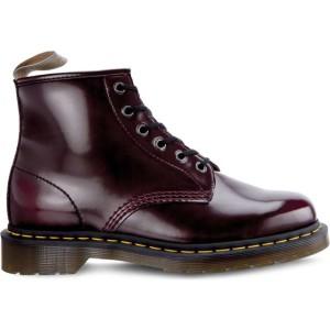 מגפיים דר מרטינס  לנשים DR Martens VEGAN 101 CHERRY RED CAMBRIDGE BRUSH - סגול