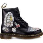 מגפיים דר מרטינס  לנשים DR Martens 1460 CHRIS LAMBERT BLACK MULTI CHRIS LAMBERT BACKHAND - שחור הדפס