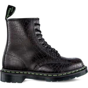 מגפיים דר מרטינס  לנשים DR Martens 1460 SKULL WEB BLACK SKULL WEB SMOOTH - שחור הדפס