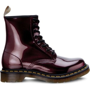 מגפיים דר מרטינס  לנשים DR Martens VEGAN 1460 CHROME OXBLOOD CHROME PAINT METALLIC - סגול