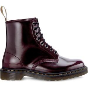 מגפיים דר מרטינס  לנשים DR Martens VEGAN 1460 CHERRY RED CAMBRIDGE BRUSH - סגול