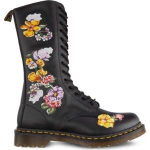 מגפיים דר מרטינס  לנשים DR Martens 1914 VONDA II BLACK - שחור פרחוני