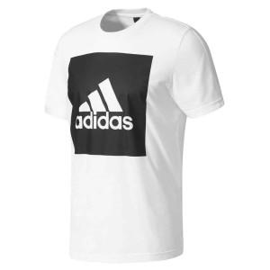 ביגוד אדידס לגברים Adidas  Essentials Big Box Logo - לבן