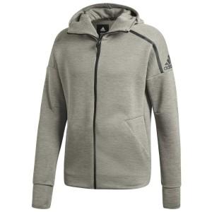 בגדי חורף אדידס לגברים Adidas  ZNE Hooded - אפור