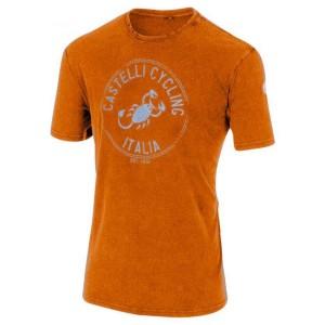 ביגוד קסטיל לגברים Castelli  Armando T-Shirt - כתום