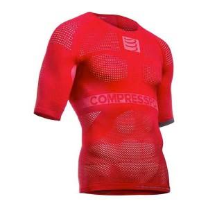 ביגוד קומפרספורט לגברים Compressport On/off Multisport Shirt S/s - אדום
