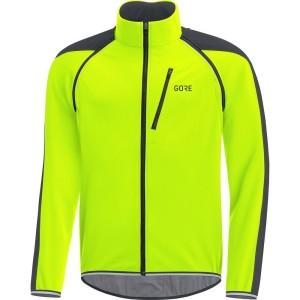 ביגוד גרואי לגברים GORE  C3 Windstopper Phantom Zip-Off Jacket - צהוב