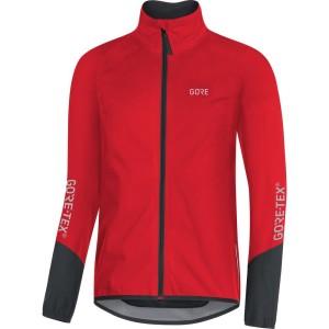 ביגוד גרואי לגברים GORE  C5 tex Active Jacket - שחור/אדום