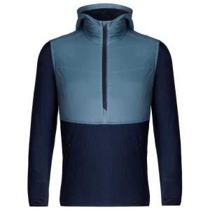 ביגוד אייסבריקר לגברים Icebreaker  Descender Hybrid L/S Half Zip Hood - כחול