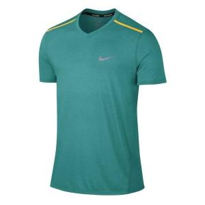 ביגוד נייק לגברים Nike  Breathe Top S/S Tailwind CLV - טורקיז