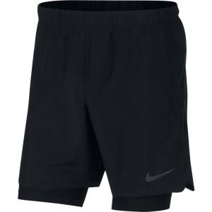 ביגוד נייק לגברים Nike  Challenger 2 In 1 Performance  - שחור