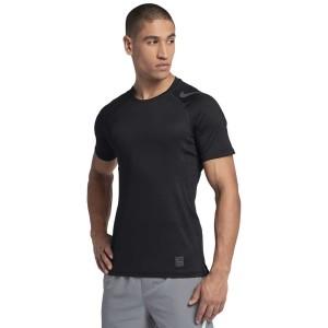 ביגוד נייק לגברים Nike Pro Hypercool Fitted GFX - שחור