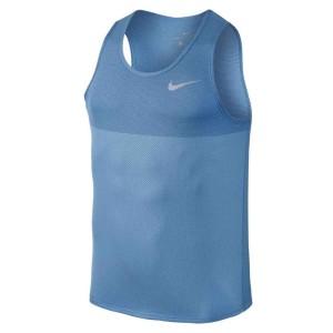 ביגוד נייק לגברים Nike  Zonal Cooling Relay Tank - כחול