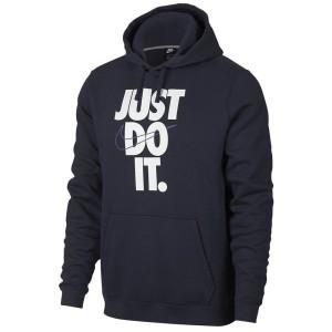ביגוד נייק לגברים Nike Sportswear HBR Just Do It Hooded - כחול כהה