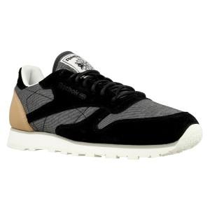 נעלי הליכה ריבוק לגברים Reebok CL Leather Fleck - אפור/שחור